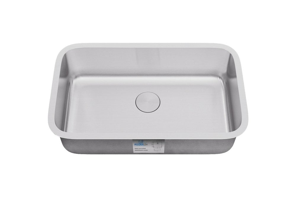 Allora USA Single Bowl Stainless Steel Kitchen Sink Drawn / Rear ...