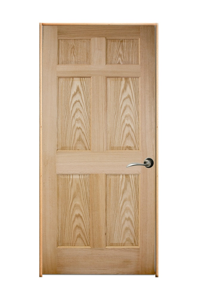 Woodport Doors Oak Interior Door Collection Red Oak 36 Left Hand