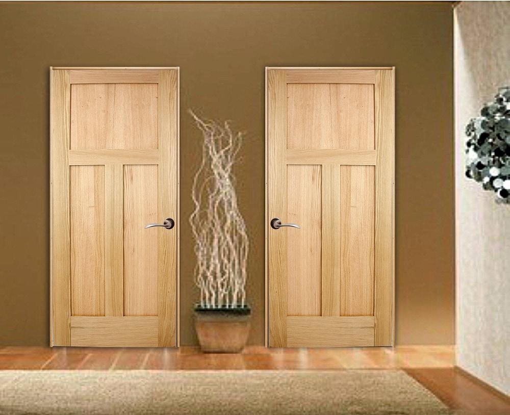 Woodport Doors Oak Interior Door Collection Red Oak 32 3 Panel