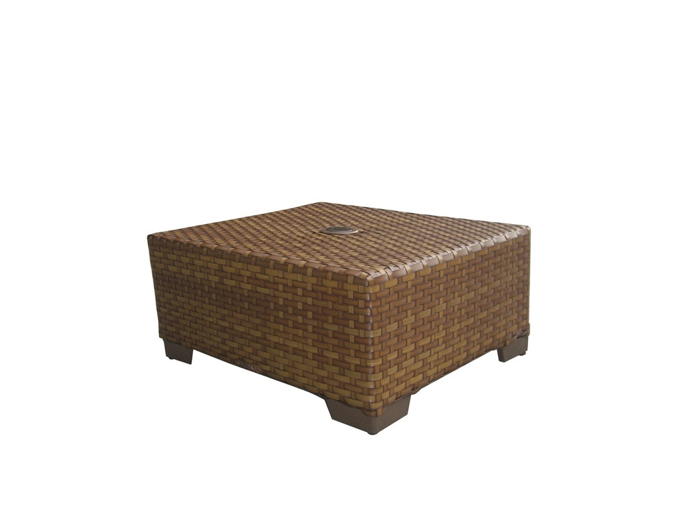 Panama jack st barths collection coffee table with - Picnic table with umbrella hole ...
