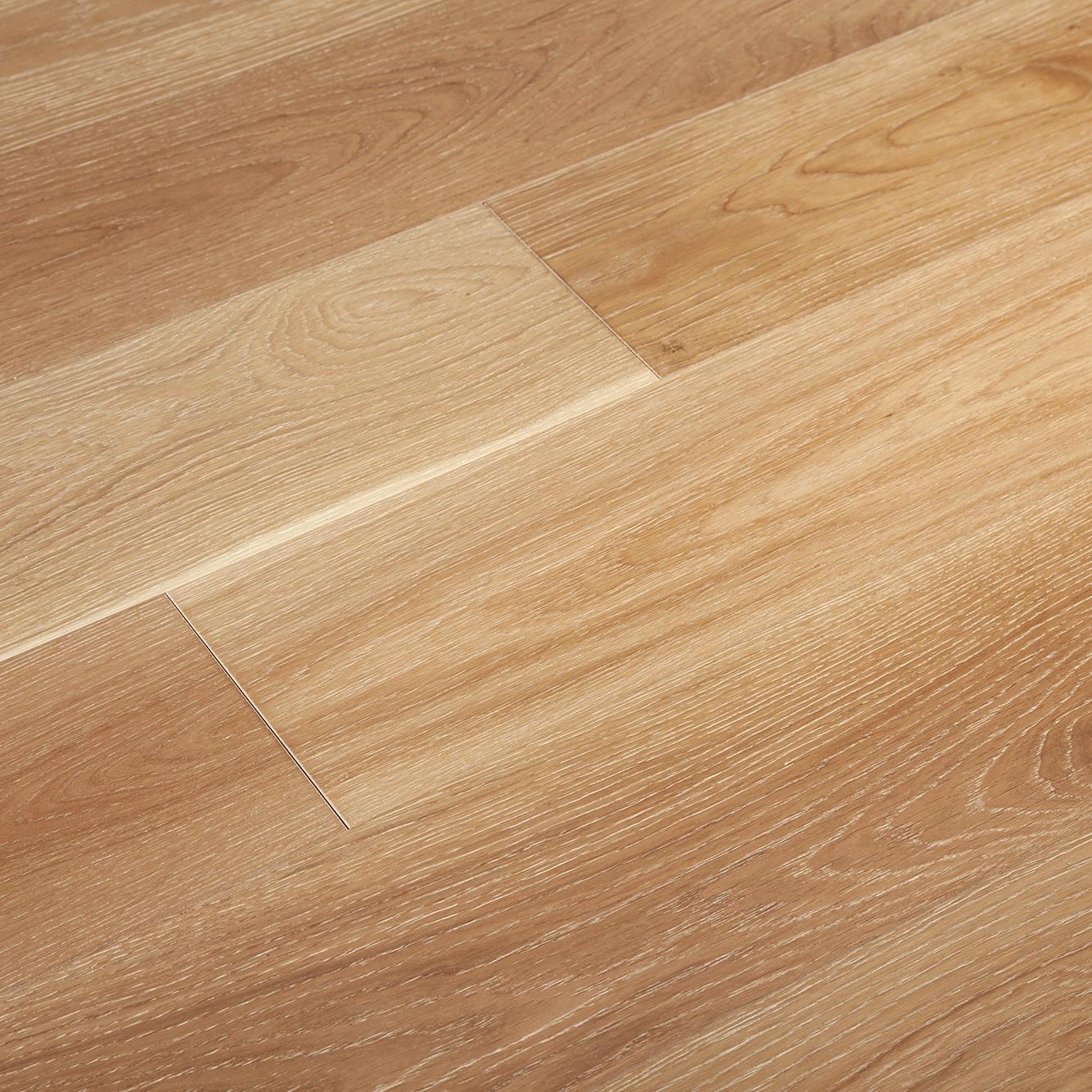"4mm Flint White / Oak / 7 1/2"" Engineered Hardwood - Artisan Brushed Oak Collection 0"