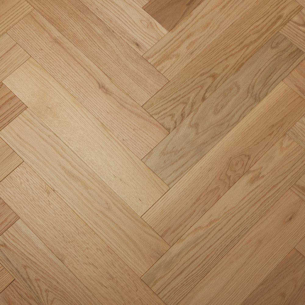 "Red Oak Natural / 4-3/4""X 23-5/8"" Engineered Hardwood - Oak Herringbone Collection 0"