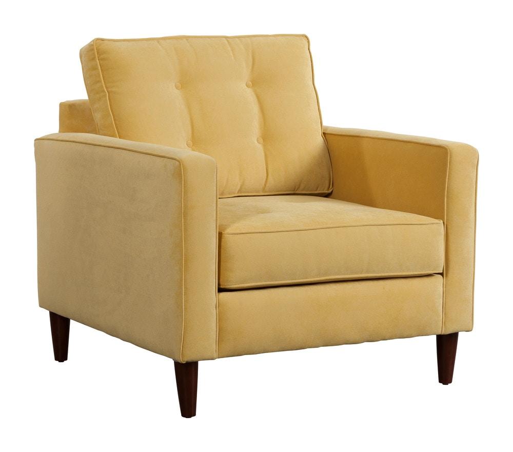 Zuo Modern Savannah Living Room Arm Chair 1 Piece Golden