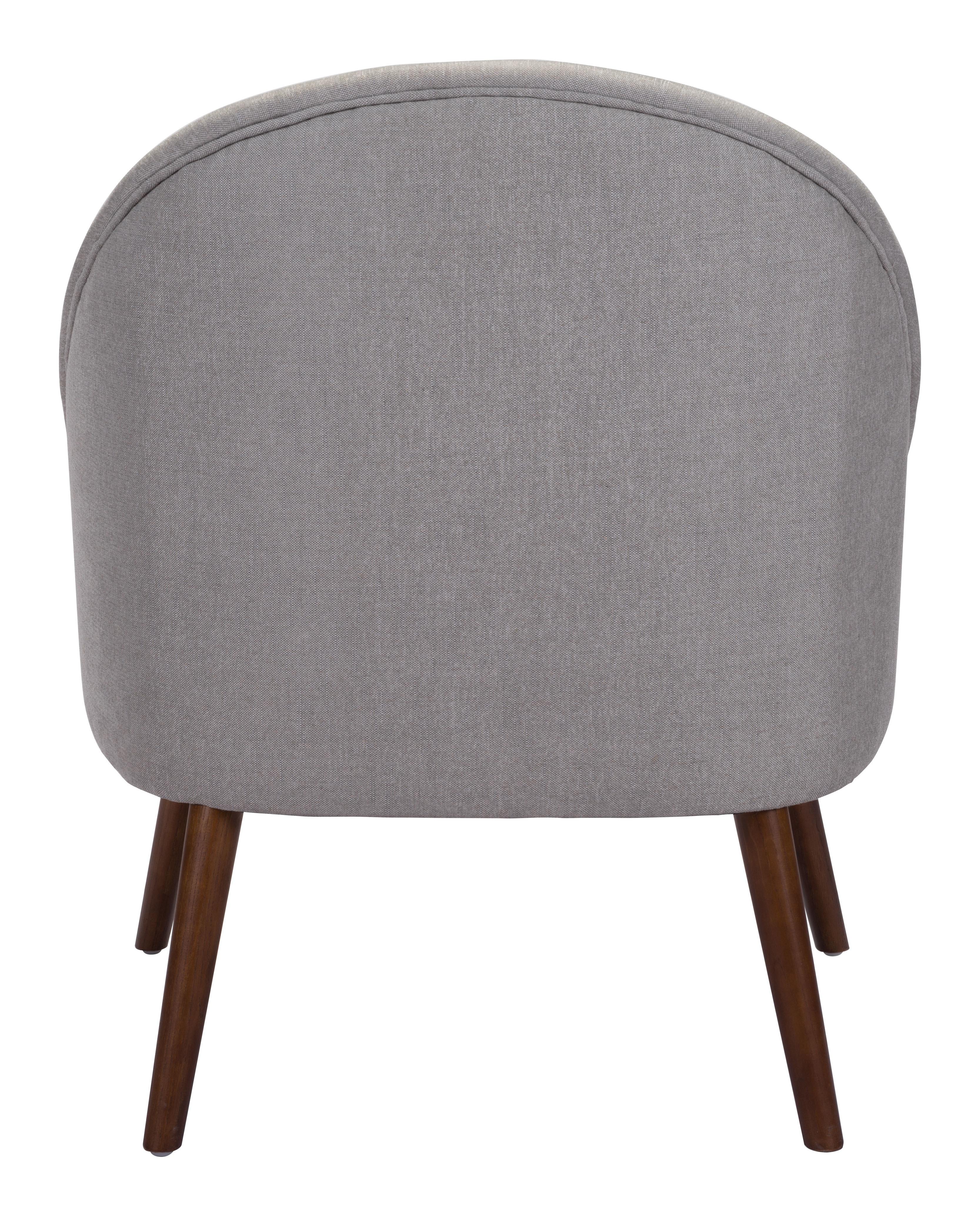 Zuo Modern Carter Occasional Chair Light Gray Occasional Chair 1