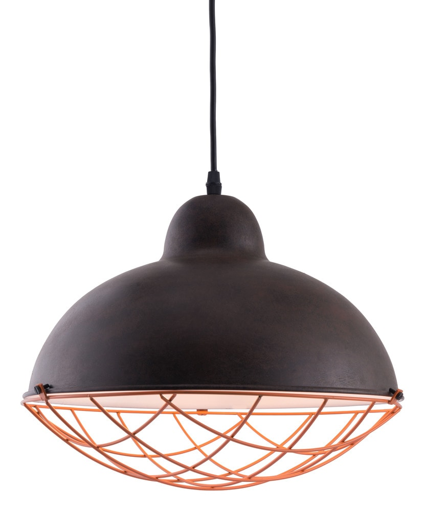 zuo modern kong ceiling lamp distressed black distressed black