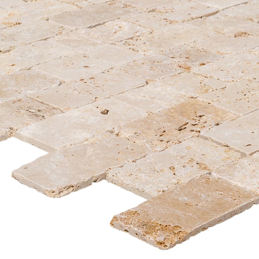 Izmir Travertine Tile - Tumbled Rustic Beige / 3\